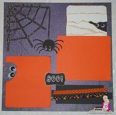 halloween scrapbook layout - Google Search