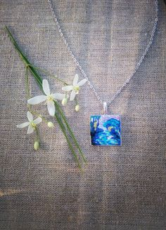 Hand embroidery pendant  miniature of Cloude Monet от MoeraeCrafts