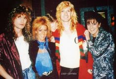 Rick Savage & Steve Clark with fans