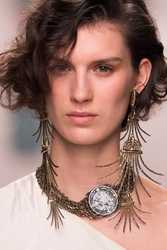 Lanvin, Fall 2016 - The Most Incredible Statement Jewelry of Fall 2016 - Photos Fall Jewelry, I Love Jewelry, Photo Jewelry, Statement Jewelry, Jewelry Accessories, Jewelry Necklaces, Jewelry Design, Jewellery, Fashion Bracelets