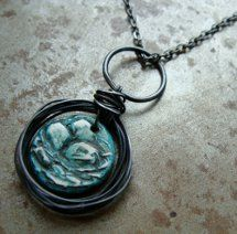 Robin's Egg Wire Nest Necklace | AllFreeJewelryMaking.com