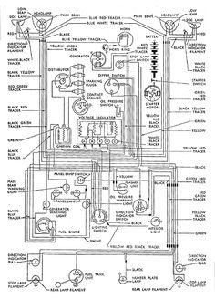wiring+diagrams+for+53+ford+customline | For identification purposes only, reproduced from Ford Motor Company ...