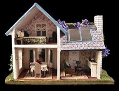 144th scale house - inside view