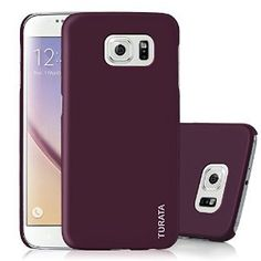 S6 Case, Galaxy S6 Case - TURATA [Slim Fit] Premium Coated Non Slip Surface [Purple] Four Layer Paint Designed Hard Case for Samsung Galaxy S6 G9200 - Purple