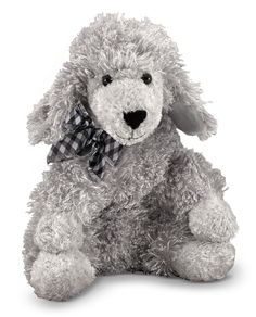 Give your child a cuddly new toy by getting this Curley Grey Poodle from Melissa & Doug®. This delightful children's toy is appropriate for all ages and is a wonderful sleep companion for your toddler or newborn. Baby Nursery Furniture, Nursery Room Decor, Pet Dogs, Dogs And Puppies, Grey Poodle, Dog Training Videos, Cute Stuffed Animals, Baby Registry, Baby Decor