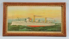 "Print of Us Torpedo Boat ""Cushing"" Picture. : Lot 1365"