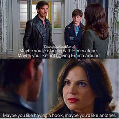I love how their relationship evolves from meanness like this to Regina being the one to say the thing that helps him break free of the darkness