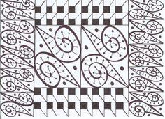 czarny wzór na białej kartce