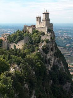 San Marino by fdecomite, via Flickr; pinned under a Creative Commons Attribution license. The photographer reports that this castle is in San Marino Italy.