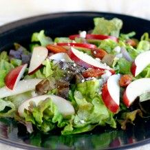 Apple Salad with Almonds and Blue Cheese in Lemon Vinaigrette