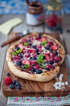 Fruit pizza .........................