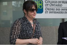 #Nurse Marcella Calvano speaks to the Star outside the College of Nurses of Ontario office where she pleaded guilty to professional misconduct at a disciplinary hearing.