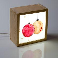kitkasa caja de luz decoración navideña - Bolas de Navidad