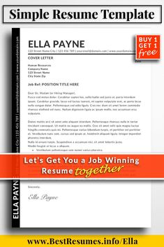 Resume Template Optimised for Applicant Tracking System ATS Clean