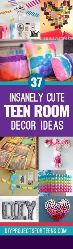 Cute DIY Room Decor Ideas for Teens - Best DIY Room Decor Ideas from Pinterest, Youtube and Top DIY Blogs. Awesome Ideas for Teen Girls Bedrooms, Furniture Accessories and Wall Art for Tweens and Teenagers: