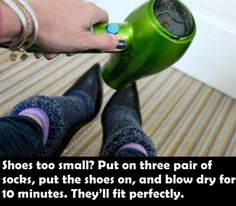 Make small shoes fit...Wow I didnt know