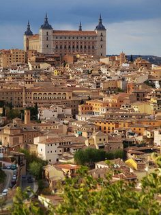 The Alcázar of Toledo at the top of the city - Toledo, Spain