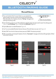 Microsoft Bluetooth® Pairing Guide