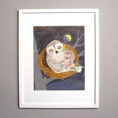 Sara Gimbergsson Illustration Owls Original Art Picture Book Maker