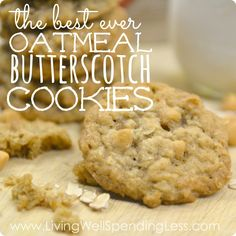 Oatmeal Butterscotch Cookies   DIY Oatmeal Cookie Recipes   Easy Yummy Cooki Recipe   Yummy Oatmeal Butterscotch Cookies   Oatmeal Scotchies
