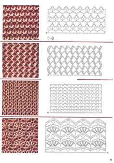 crochet stitches patterns – Knitting Tips Crochet Stitches Chart, Crochet Motifs, Crochet Diagram, Knitting Stitches, Free Crochet, Knit Crochet, Knitting Patterns, Crochet Patterns, Irish Crochet