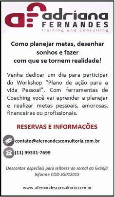 Workshop com desconto para leitores da Folha de Cotia
