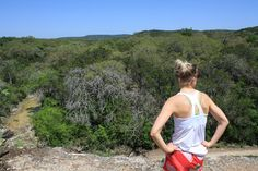 hiking in government canyon in san antonio, texas