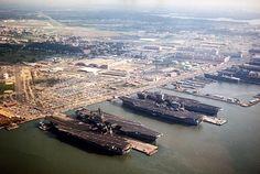Norfolk Naval Base. Norfolk, Virginia.