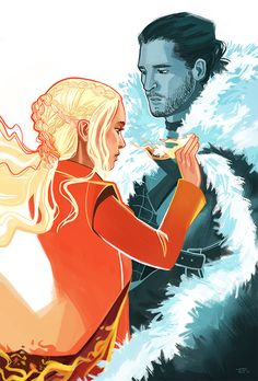 "Fan art by eklixio ""…I've brought Ice and Fire together."""