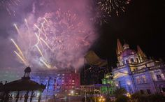 People in Guadalajara celebrate 2020 New Years Eve visiting to various places and clubs, enjoying the yummilicious delicacies and firework displays New Year's Eve 2019, New Years Eve Fireworks, Fire Dancer, Fire Works, Sparklers, Nye, Awesome, Painting, Guadalajara