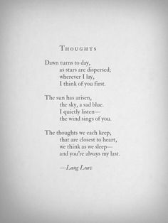 Thoughts. Lang Leav