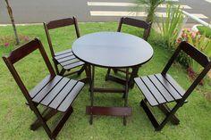 Mesas e cadeiras para deck