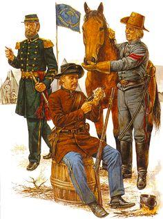 """Legión de Hampton en el servicio de los Estados confederados, 1861-62 """" Riflemen • Tropas del distrito de Beaufort • Artillería montada en Washington"""