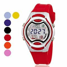Tanboo Women's Chronograph PU Digital Automatic Wrist Watch (Assorted Color) by Tanboo Watchs. $9.99. Sports Fan Watch. Gender:Women'sMovement:AutomaticDisplay:DigitalStyle:Wrist WatchesType:Sport Watches, Casual WatchesFeature:Multi-Functional, Water Resistant, Chronograph, Calendar, AlarmBand Material:PUBand Color:Pink, Blue, Orange, Black, RedCase Diameter Approx (cm):3.5Case Thickness Approx (cm):1.2Band Length Approx (cm):22Band Width Approx (cm):1.5