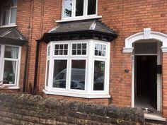 Double glazed windows and doors Nottingham Derby Leicester House Windows, Windows And Doors, Bay Windows, 1930s House Exterior Uk, Bay Window Exterior, Hale House, Window Glazing, Bungalow Renovation, Garage House Plans
