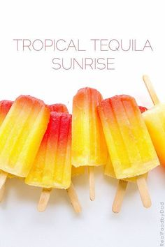 Tropical Tequila Sunrise Ice Pops | 23 Ice Pops That Will Get You Drunk
