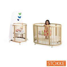Stokke SLEEPI System = Mini + SLEEPI Crib - Natural - Best Price  #DiaperscomNursery