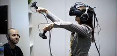 Виртуальная реальность. HTC Vive. Очки виртуальной реальности с трекингом положения тела в пространстве.