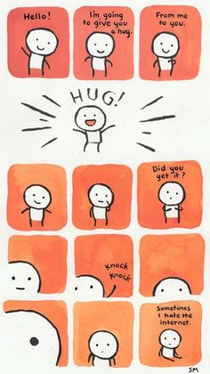 """As a girl who lives 3000miles from her boyfriend, I've found myself saying """"The internet gives horrible hugs"""" MANY times. haha. #Hugglez #InternetHugs"""