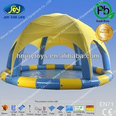 Red-hot Seller combine PVC swimming pool, intex pools with tent $150~$6000