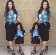 tinymissfashion Mom Daughter Matching Outfits 575b8416d292