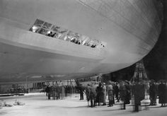 Hindenburg before takeoff. The Most Astounding Airships, Dirigibles and Zeppelins in History