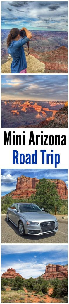 Mini Arizona Road Trip featuring a 5 night itinerary starting and ending in Phoenix with a stop at Grand Canyon National Park!