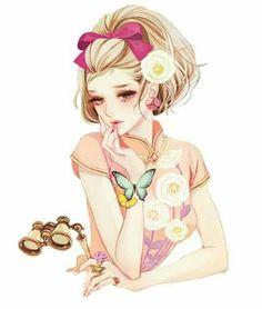 Anime Girl render by Umiho- Chan Anime Art Girl, Manga Art, Grafiti, Doll Painting, Animation, Anime Style, Cartoon Art, Japanese Art, Kawaii Anime