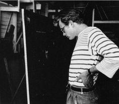 James Dean. Love that striped tee.