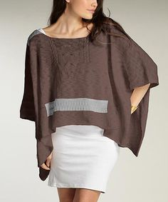 Look at this #zulilyfind! Clay Silver Aerial Organic Poncho by Indigenous #zulilyfinds