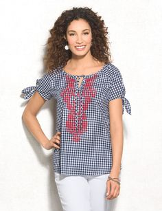 1c15ad46d81 This top is giving us a chic country vibe. Wear at your next picnic or