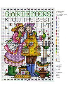0 point de croix 2 jardinières - cross stitch 2 gardeners