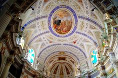 Scicli, painted ceilings of San Marco Evangelista