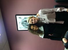 Jen with Laura Schiller at the Senate office building in D.C. #missrep